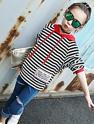 Girls' Striped Print Blouse,Cotton Winter