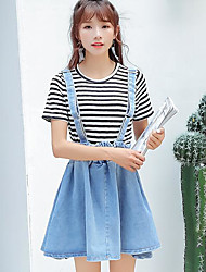 cheap -Women's Going out Classic & Timeless Denim Dress,Solid Strap Midi Sleeveless Others Spring Summer Mid Rise Micro-elastic Medium