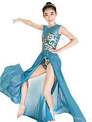 economico -Balletto Vestiti Con lustrini Per donna Per bambini Esibizione Elastico Tessuto costumi da bagno Licra Paillettes Senza maniche Naturale