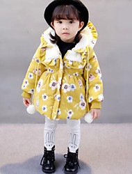 cheap -Girls' Print Down & Cotton Padded,Others Winter Fall Long Sleeve Yellow Light Blue
