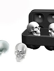 cheap -3D Silicone Skull Ice Cube Molds Whiskey Cocktail Ice Ball Ice Cream Maker Tray Bar DIY Tool