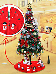 cheap -1Pcs 90Cm Christmas Snowman Tree Skirt For Home Christmas Decoration