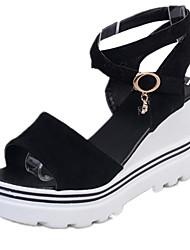 Damen Schuhe PU Sommer Keilabsatz Für Normal Weiß Rose Rot