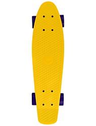22 pouces Planches à roulettes standard Extérieur Professionnel Plastique ABEC-5-Jaune Couleur Pleine