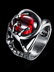 cheap -Men's Knuckle Ring Nail Finger Rings Band Rings Fashion Personalized Stainless Steel Round Jewelry For Daily Casual