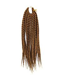 """страх замки волос кос афро плетеные гаваны твист синтетические волосы средние каштановые 14 """"оплетка волос наращивание волос"""