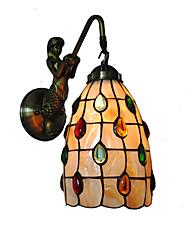 economico -diametro 13cm retro sirena tiffany luci di parete lucernario ombra soggiorno camera da letto camera da letto