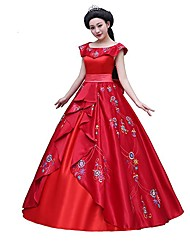 One-Piece/Dress Princess Animal Queen Goddess Maid Costumes Vampire Cosplay Movie Cosplay Red Dresses Bow Halloween Christmas Carnival