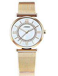 Women's Dress Watch Fashion Strap Watch Japanese Quartz Imitation Diamond Stainless Steel Band Vintage Charm Bangle Silver Gold Wrist watch