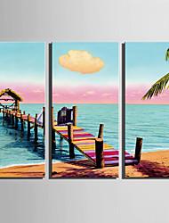 Недорогие -Пейзаж Modern, 3 панели холст Вертикальная С картинкой Декор стены Украшение дома