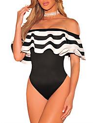 economico -Da donna Spiaggia Casual Serata A strisce Semplice Vintage Sensuale Tute,Taglia piccola A barca Primavera Estate
