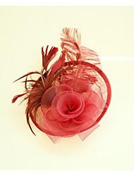 abordables -Lin Plume Fascinators Chapeaux 1 Mariage Occasion spéciale Casque