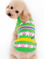 Perro Suéteres Ropa para Perro Templado Casual/Diario Estrellas Negro Verde Disfraz Para mascotas