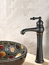 Moderna Pia Separada Válvula Cerâmica Bronze Com Banho de Óleo , Torneira pia do banheiro