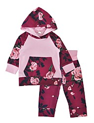 cheap -Baby Girls Indoor Outdoor Daily Print Clothing Set