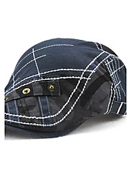 cheap -Men's Cotton Beret Hat Floppy Hat Baseball Cap - Patchwork Patchwork