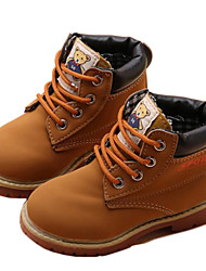 Boys' Shoes Synthetic Fall Winter Fashion Boots Bootie Combat Boots Boots Booties/Ankle Boots Lace-up Plaid For Casual Outdoor Khaki
