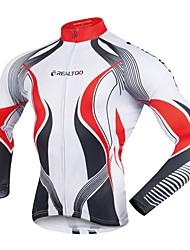 Realtoo Maglia da ciclismo Per uomo Manica lunga Bicicletta Maglietta/Maglia Traspirabilità Autunno Primavera Ciclismo Bicicletta