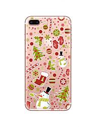 billige -Etui Til Apple iPhone X iPhone 8 Ultratyndt Gennemsigtig Bagcover Jul Blødt TPU for iPhone X iPhone 8 iPhone 7 Plus iPhone 7 iPhone 6s