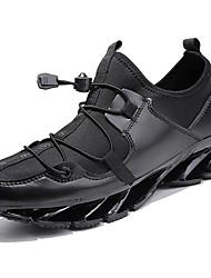 baratos -Homens sapatos Borracha Outono / Inverno Conforto Tênis Preto / Branco / Preto