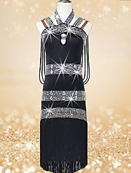cheap -Shall We Latin Dance Dresses Women's Performance Spandex Crystals/Rhinestones Sleeveless Dresses