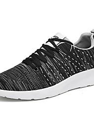 Herren Schuhe Tüll Frühling Herbst Komfort Sneakers Für Normal Schwarz Grau Dunkelgrau