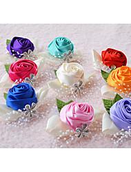 Недорогие -Свадебные цветы Букетик на запястье Свадьба Шелк Около 6 см Около 2 см