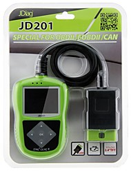 JDiag JDiag JD201 Code Reader With Color Screen for OBDII/EOBD/CAN Tableau de bordforUniversel Pontiac Renault Peterbilt GMC Coda