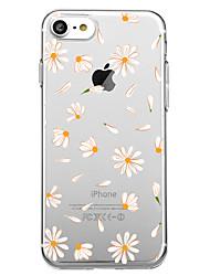 Недорогие -Назначение iPhone X iPhone 8 Чехлы панели С узором Задняя крышка Кейс для Плитка Цветы Мягкий Термопластик для Apple iPhone X iPhone 8