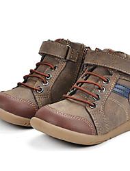 preiswerte -Jungen Schuhe Leder Winter Komfort Stiefel für Normal Braun