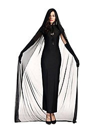cheap -Bride One Piece Dress Cosplay Costume Female Halloween Carnival Festival / Holiday Halloween Costumes Black Solid Color