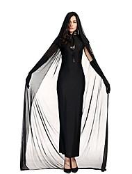 economico -Sposa Un Pezzo Vestiti Costumi Cosplay Donna Halloween Carnevale Feste / vacanze Costumi Halloween Nero Tinta unica