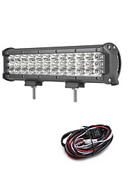 cheap -108W 10800LM 6000K 3-Rows LED Work Light Cool White Flood Offroad Driving Light for Car/Boat/Headlight IP68 9-32V  2m 1-To-1 Wiring Harness Kit