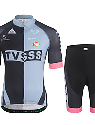 cheap -Men's Short Sleeves Cycling Jersey with Shorts - Black Bike Clothing Suits