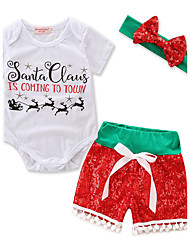 Baby Girl's Christmas Casual/Daily Casual/Daily Animal print Print Clothing SetStylish One Piece Leotards Basic Classic & Timeless Multi