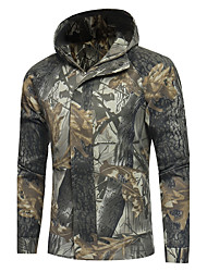 cheap -Men's Sports Going out Simple Casual Active Street chic Winter Fall Regular Jacket Hooded Polyester Print