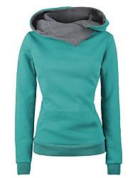 preiswerte -Damen Pullover Ausgehen Lässig/Alltäglich Einfach Einfarbig Rollkragen Ohne Futter Mikro-elastisch Polyester Lange Ärmel Herbst Winter