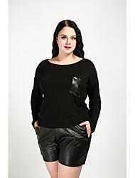 abordables -Mujer Chic de Calle Tallas Grandes Camiseta Un Color