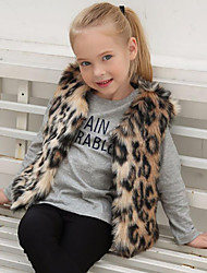 cheap -Faux Fur Wedding Party / Evening Kids' Wraps With Leopard Vests