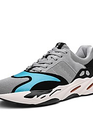 cheap -Men's Shoes Tulle Spring Fall Comfort Athletic Shoes Walking Shoes Lace-up For Athletic Burgundy Gray Black
