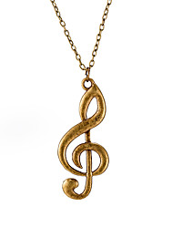 Women's Pendant Necklaces Chain Necklaces Geometric Music Notes Silver Plated Alloy Fashion Personalized Jewelry For Gift Street