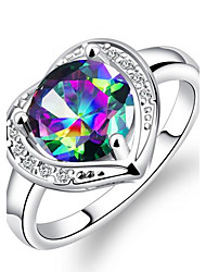Недорогие -Жен. Классические кольца Обручальное кольцо Синтетический алмаз Нержавеющая сталь Стразы В форме сердца Бижутерия Назначение Свадьба