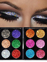 preiswerte -Makeup 12 Farben Lidschatten Kosmetik Professionell / FLASH / Schimmer Lang anhaltend Modisch Alltag Make-up / Halloween Make-up / Party Make-up Bilden Kosmetikum