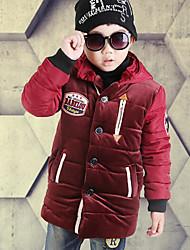 tanie Modna odzież dziecięca-Odzież puchowa / pikowana Dla chłopców Jendolity kolor Black Wine
