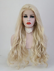 cheap -Women Synthetic Wig Lace Front Long Body Wave Light Blonde Natural Hairline Natural Wigs Costume Wig