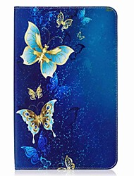 cheap -Butterfly Pattern Card Holder Wallet with Stand Flip Magnetic PU Leather Case for Samsung GALAXY Tab E 9.6 T560 T561 9.6 inch Tablet PC