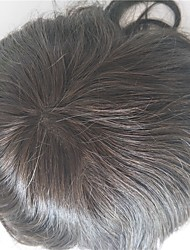 Natural Hairline Replacement Systems Full Swiss Lace Natural Color Hair Toupee Mens Hair Piece Stock 130% Density