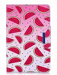 preiswerte -Hülle Für Samsung Galaxy Ganzkörper-Gehäuse Tablet-Hüllen Einhorn Flamingo Marmor Cartoon Design Hart PU-Leder für Tab E 9.6