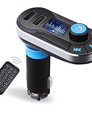 Bluetooth MP3 Player Handsfree Car Kit AUX Hands Free FM Transmitter with Dual USB MP3 SD LCD Car Charger Cigarette Lighter