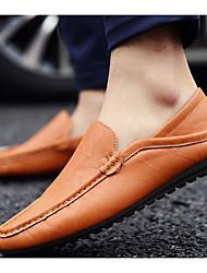 Homme Chaussures Polyuréthane Printemps Automne Moccasin Mocassins et Chaussons+D6148 Pour Décontracté Blanc Noir Jaune Rouge Bleu